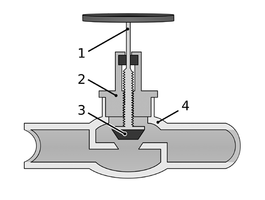 клапан запорный проходной