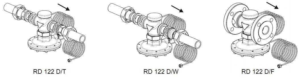 монтаж регулятора перепада давления к трубопроводу
