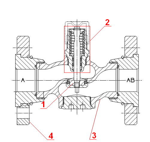 конструкция седельного клапана RV111