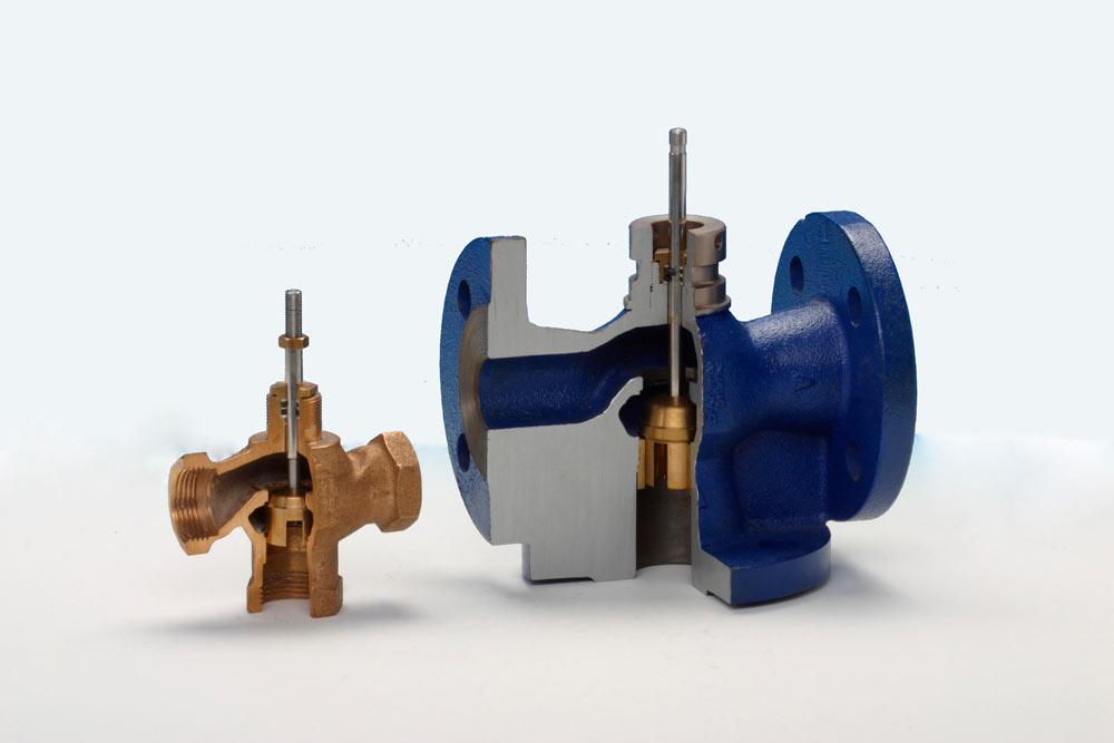 смесительный регулирующий клапан RV102 и RV103