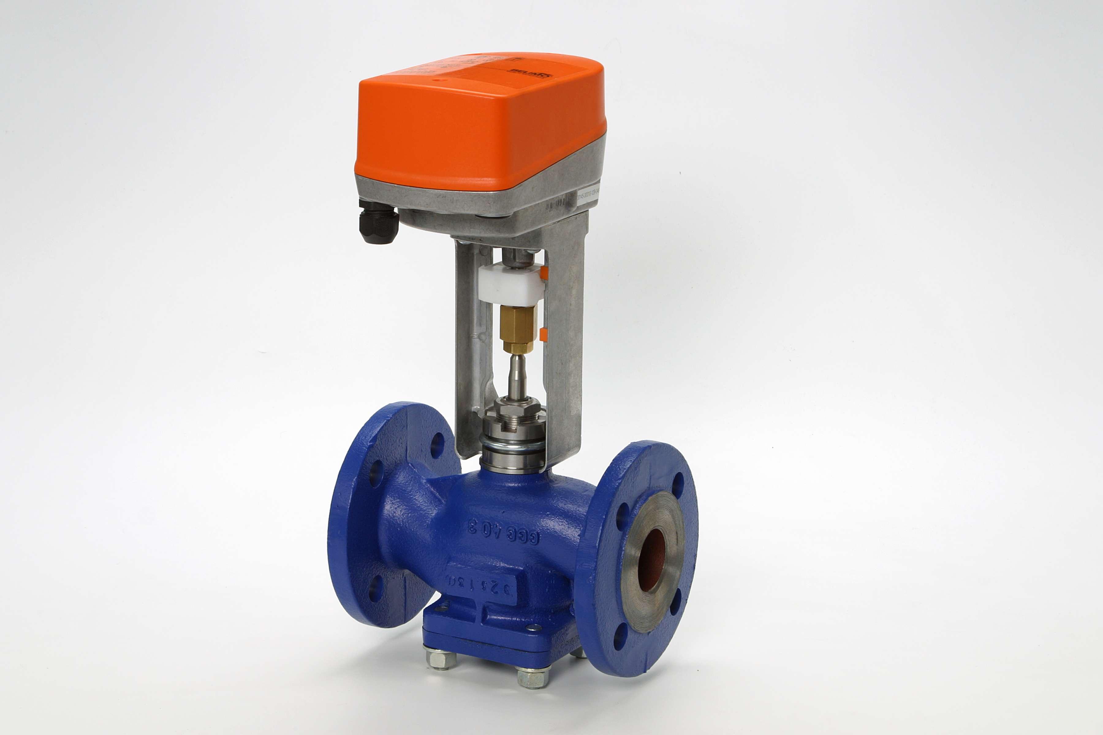 запорно регулирующий трехходовой клапан